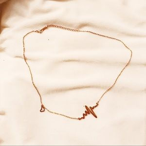 Jewelry - Rose Gold Heart Pulse Necklace